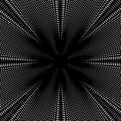 Optical illusion, creative black and white graphic moire backdro