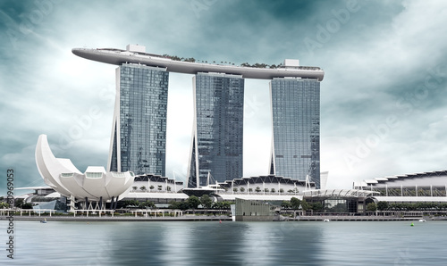 Foto op Aluminium Singapore landmark of Singapore