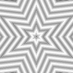 Optical illusion, moire background, abstract lined monochrome ti