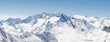 canvas print picture - Panoramic Alpine Mountain View