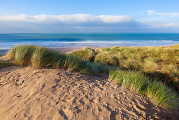 Sand Dunes at Woolacombe Beach