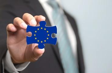 Konzept Puzzle EU