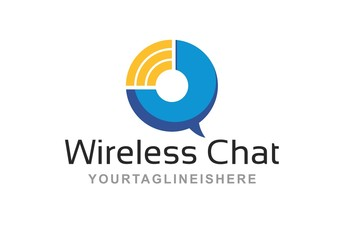 Wireless Chat - Logo Template