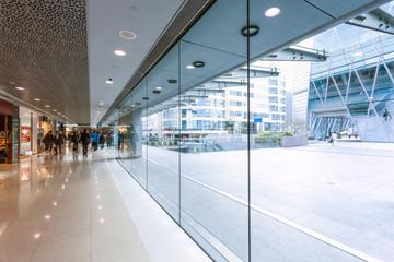 footpath through modern building