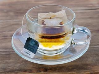 Gläserne Teetasse