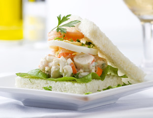 Swedish seafood sandwich