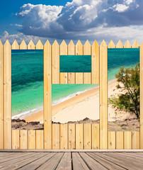 ouvertures sur plage de Baladirou, île Rodrigues