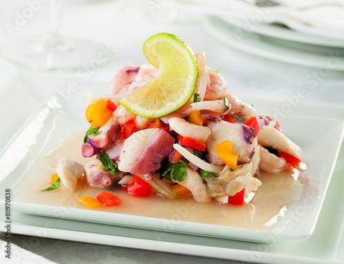 Fotobehang Voorgerecht Seafood ceviche