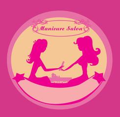 manicure in beauty salon icon