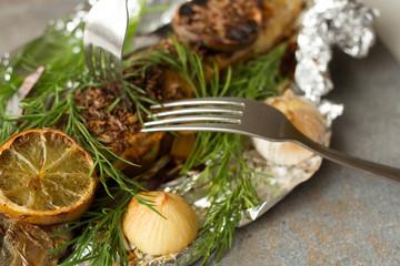 falgu fish with lime garlic and onion