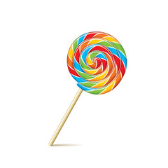 Colorful lollipop isolated on white vector