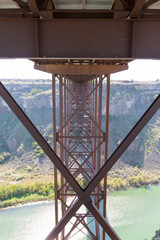 Underneath the old Perrine Bridge at Twin Falls