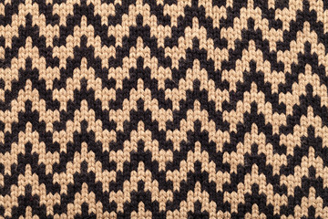 Knitted fabric cloth pattern