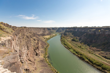 Panorama Snake River Canyon Near Twin Falls, Idaho
