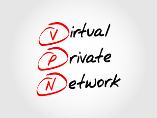 VPN - Virtual Private Network, acronym business concept