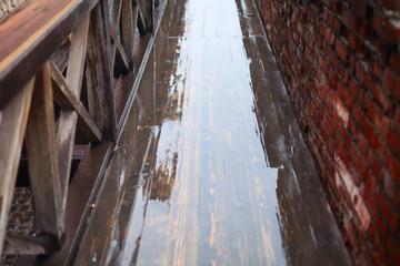 wet retro road
