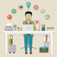graphic designer, freelance career