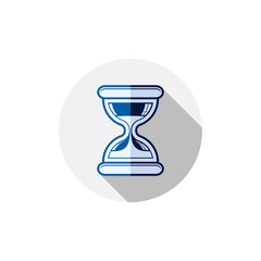 Time conceptual stylized icon. Old-fashioned hourglass isolated