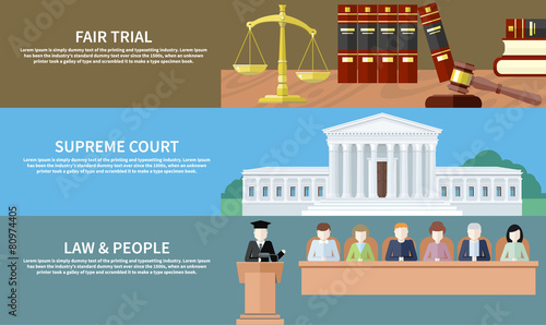 Fair trial. Supreme court. Law and people - 80974405