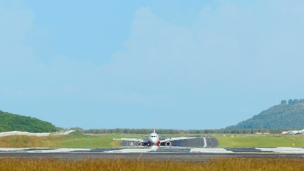 Airplanes taxiing