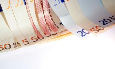 Gestaffelte Geldscheine