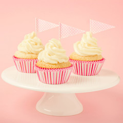 Festive cupcakes with frosting