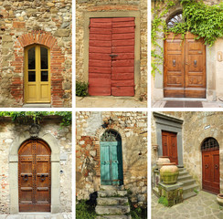 beautiful old tuscan doors collection