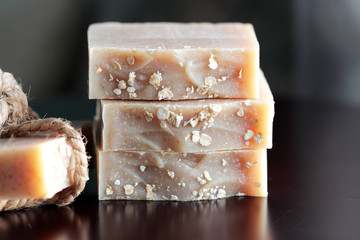 pieces of oatmeal soap