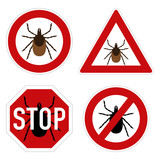Tick parasite warning sign.