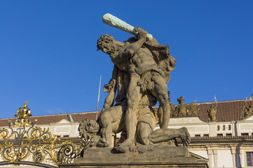Formidable Sculpture above the entrance to the Royal Palace