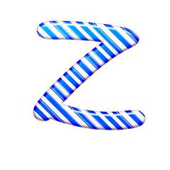 The letter Z of caramel color is blue