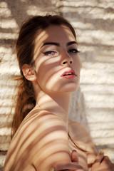 Summer portrait of beautiful girl