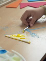 Childs artwork in progress