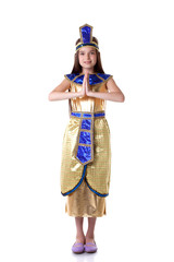 Lovely young girl posing in Cleopatra costume