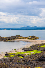 Black Sands beach, Aberdour, Scotland.
