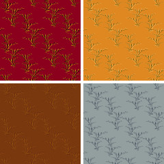 seamless abstract art pattern set