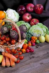 Verdura e ortaggi con frutta