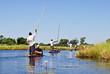 Leinwanddruck Bild - Okavango Delta: Mokoro-canoe trip on the river, Botswana Africa