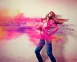 girl with exploding powder splash - movin 07