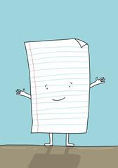 Blatt Papier happy