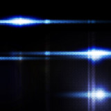 Abstract blue digital background, the flash on black background poster