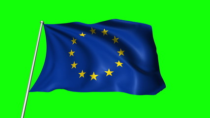 European Union flag (loop, green background)