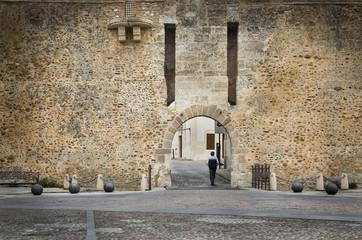 city wall of Rodrigo town, Spain