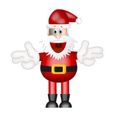 Funny Santa Claus xmas christmas illustration cartoon