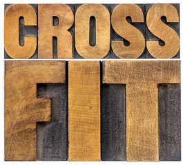 crossfit word abstract