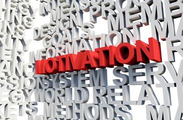 MOTIVATION Word in red, 3d illustration.