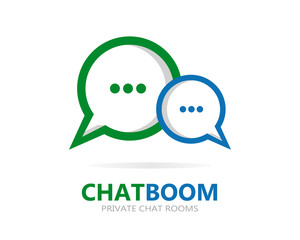 Vector chat icon or logo