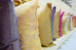 Rows of decorative pillows - 80986887
