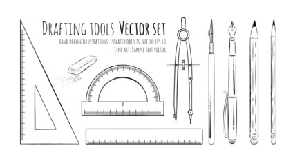 Drafting tools.