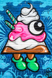 Abstract icecream graffiti